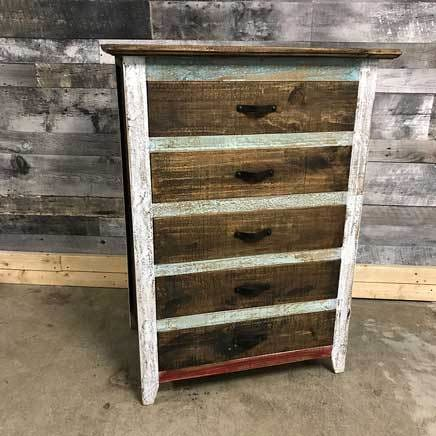 Tacoma rustic pine tall boy chest of drawers - $499.00