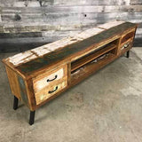 "Serena 79"" Recycled wood TV stand"