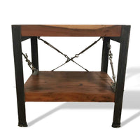 Acacia two shelf end table or night stand