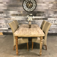 8 seater wood table