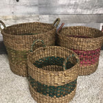 Assorted laundry waterhyacinth Baskets (set of 3) - $139.00