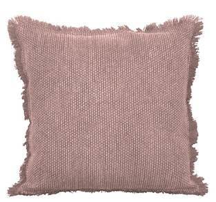 Blush stone wash textured cotton pillow 16 x 16