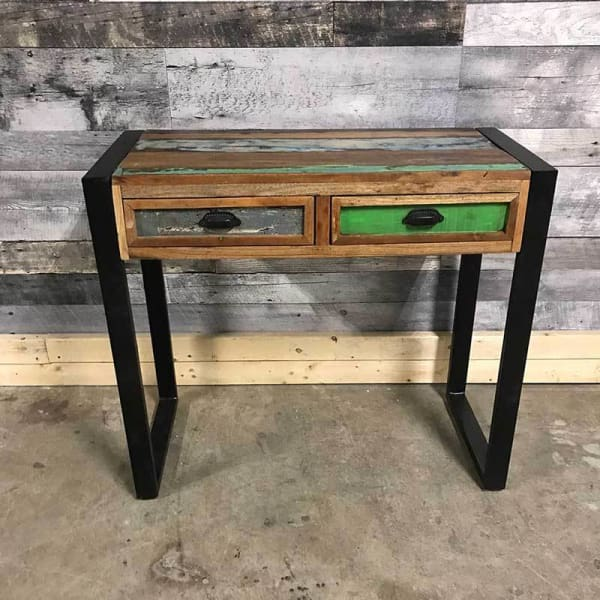 Cancun Industrial reclaimed wood 36 console table - $325.00