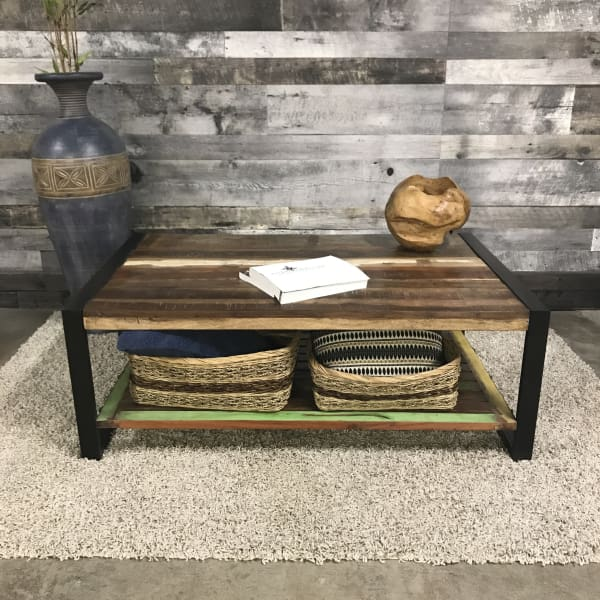 Cancun Industrial reclaimed wood coffee table
