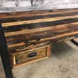Cancun Industrial reclaimed wood small computer desk - $549.00