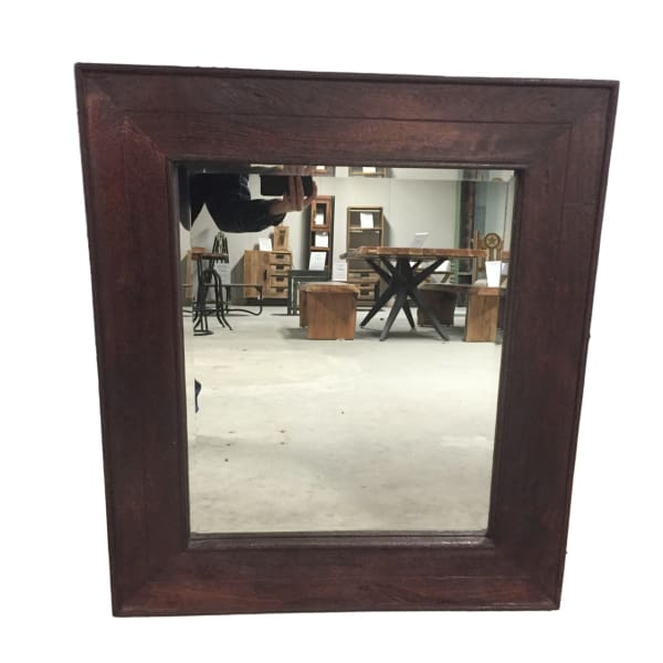 Cannes bourdeau mango wood bathroom mirror