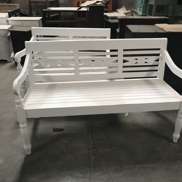 COUNTRY WHITE 3 SEATER BENCH - $499.00