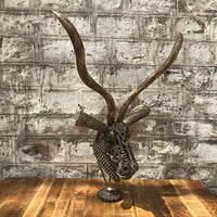 Deer Head scrap metal sculpture