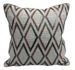 Diamond print pillow with piping 18 x 18