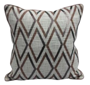 Diamond print pillow with piping 18 x 18 - $28.99