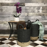 Dual Tone Black Round Storage Baskets (set of 2) - $149.00