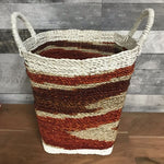 Fire Coulored Seagrass Basket