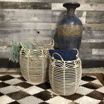 HANDCRAFTED KUBU DESIGNER BASKETS (SET OF 2) - $179.00