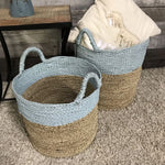 Handwoven Seagrass & Raffia Baskets (Set of 2) - $159.00