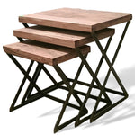⚠️   PRE-ORDER ⚠️   Set of 3 nesting acacia end tables