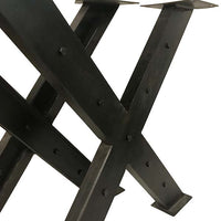 Studded Industrial X table legs (set of two)