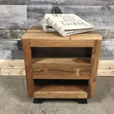 Jungle industrial acacia night stand - $349.00