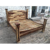 King Montana Rustic Rosewood bed frame