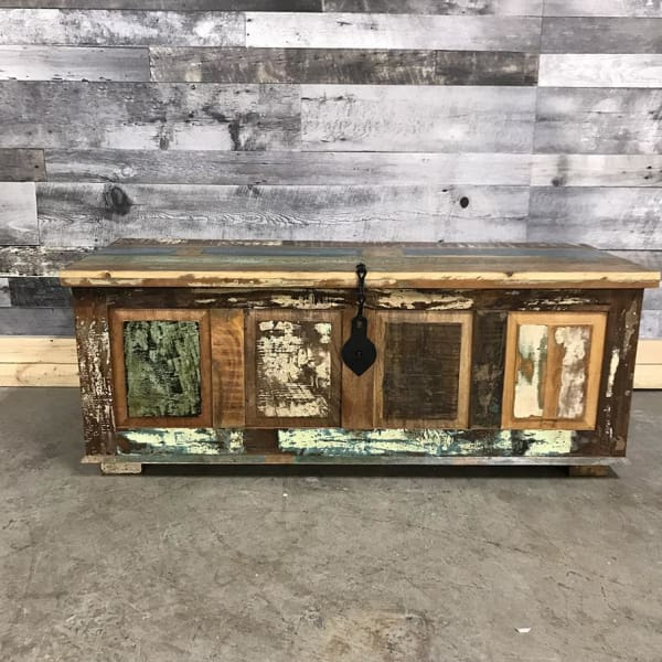 Large Rustic Reclaimed wood trunk - $399.00