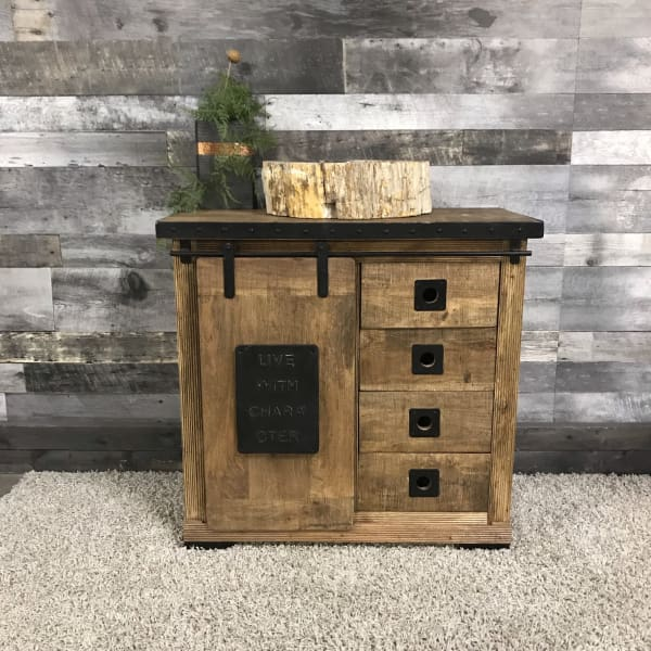 Live with Character industrial rustic small chest of drawers