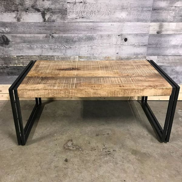Machu Industrial rustic mango wood coffee table - $399.00