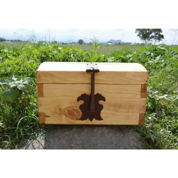 Medium rustic pine jewelry box - $49.00