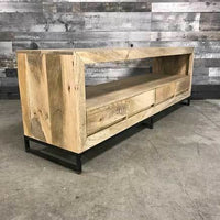 Merapi industrial 69 mango wood 4 drawer TV Stand