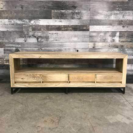69 inch mango wood 4 drawer TV Stand