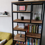 Multi-Shelf Industrial mango wood storage bookcase - $599.00