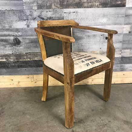 Oliver canvas and leather chair