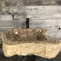 PETRIFIED WOOD STONE BATHROOM SINK #15