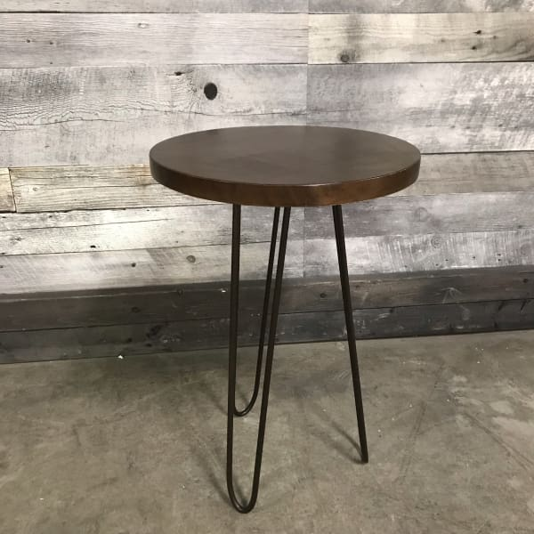 PIN LEG ROUND END TABLE - $189.00