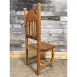 Plain rustic pine chair