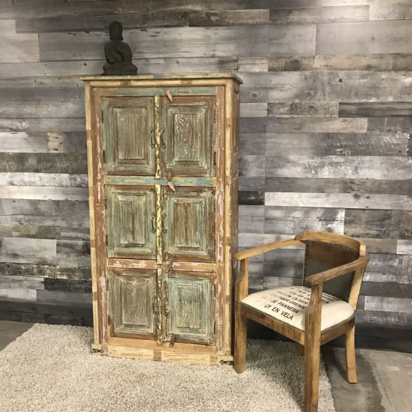 RIVERSIDE WIDE OLD RECLAIMED DOOR ARMOIRE - $1499.00