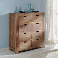 Rosewood 8 drawer accent piece