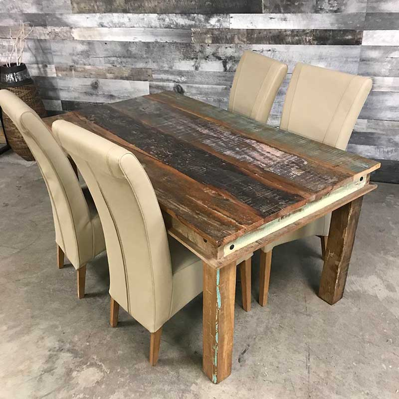 Rustic harvest wood dining table