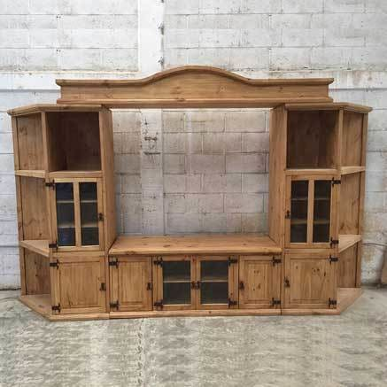 Rustic Pine Mega wall entertainment center - $1999.00