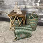 Sea Green wicker storage Baskets (set of 3) - $139.00
