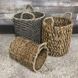 Seagrass Wicker hamper Baskets (Set of 3) - $149.00
