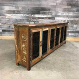 Serena Recycled rustic colorful wood 99 cabinet