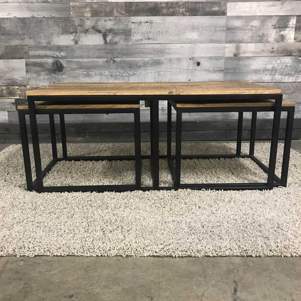 industrial nesting coffee tables
