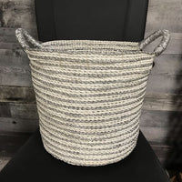 Silver Laced Storage Baskets (set of 2)