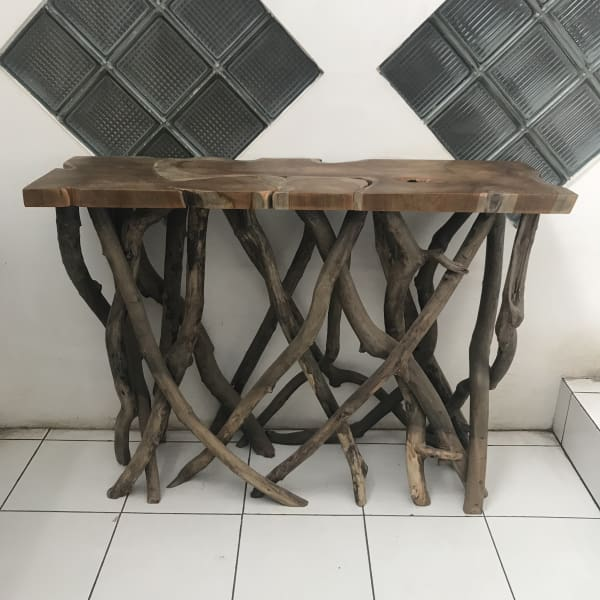 TEAK ROOT CONSOLE TABLE - $449.00