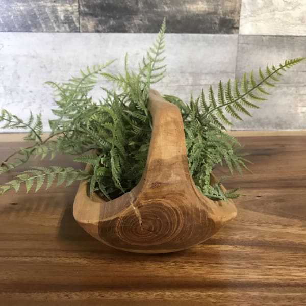 TEAK ROOT PLATTER- TRAY WITH HANDLE - $44.99
