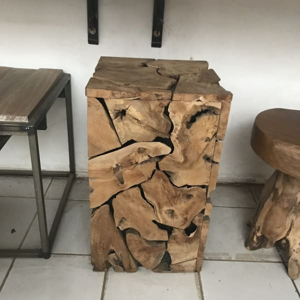 Teak side table - $199.00