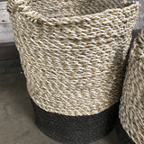 TWO HANDLED TRI COLOR BASKET (SET OF 2) - $149.00