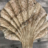 White Wash Wooden Seashell on Stand M - $79.99