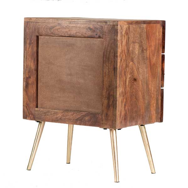 Dover contemporary acacia wood night stand