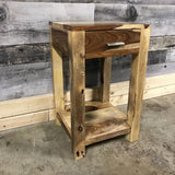 Zen 1 drawer Rosewood side table - $249.00