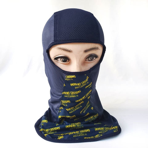 Imprint Customs - Basic Balaclava - Navy Blue/Gold